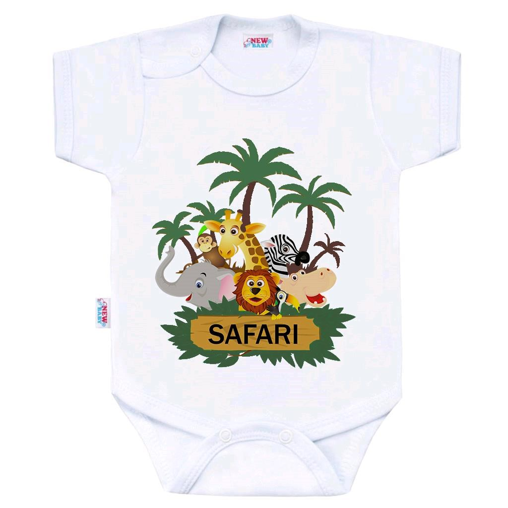 Body s potlačou New Baby SAFARI-74 (6-9m)